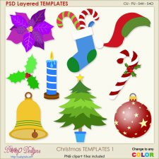 Christmas Layered TEMPLATES 1