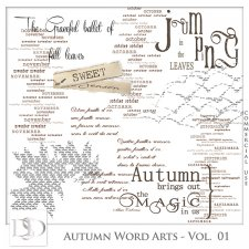 Autumn Word Arts Vol 01 by D's Design