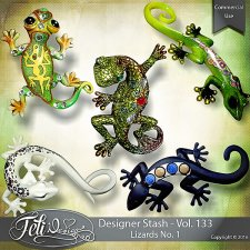 Designer Stash Vol 133 - Lizards No 1 by Feli Designs