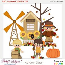 Autumn Days Element Templates