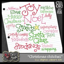 Christmas Chitchat CU clipart