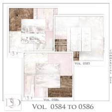 Vol. 0584 to 0586 Winter Papers by D's Design