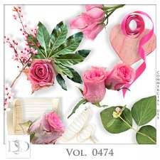 Vol. 0474 Roses Nature Mix by D's Design