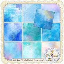 Winter Chalk & Paint Overlays 2 by PapierStudio Silke