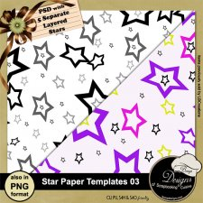 Star Paper TEMPLATE 03 by Boop Designs