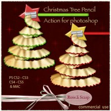 Action - Christmas Tree Pencil by Rose.li
