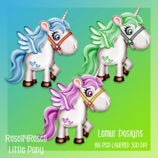 Little Pony Layered PSD Template by Lemur Designs