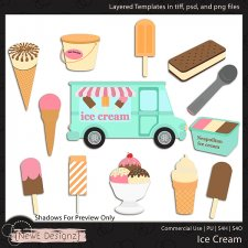 EXCLUSIVE Layered Ice Cream Templates By NewE Designz