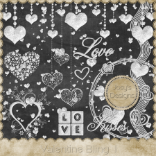 Valentine love Bling by Josy