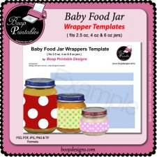 Baby Food Jar Wrapper TEMPLATE by Boop Printable Designs