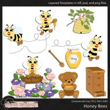 EXCLUSIVE Layered Honey Bees Templates by NewE Designz