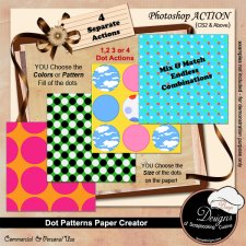 Dot Pattern Paper Creator ACTION by Boop Designs