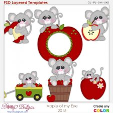 Apple of my Eye Mouse Layered Element Templates