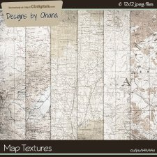 Map Texture Papers - EXCLUSIVE Designs by Ohana