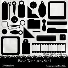 Basic Designers Templates Set 1 by Cida Merola
