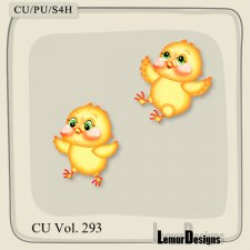 CU Vol 293 Animals Easter Chicken by Lemur Designs
