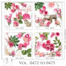 Vol. 0472 to 0475 Roses Nature Mix by D's Design