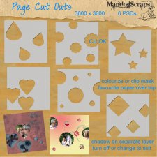 Page Cut Outs by Mandog Scraps