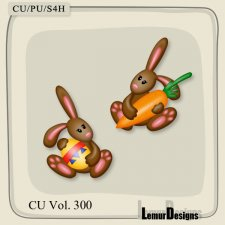CU Vol 300 Bunny Rabbit by Lemur Designs