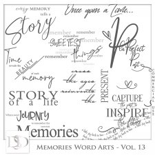 Memories Word Arts Vol 13 by D's Design