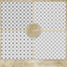 Layered Paper Templates 12 by Josy