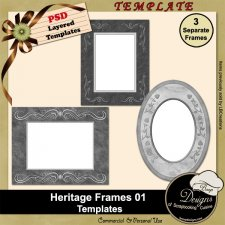 Heritage Frames TEMPLATES 01 by Boop Designs