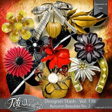 Designer Stash Vol 138 - Autumn Beauties No 2 by Feli Designs