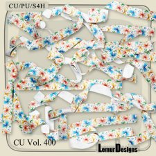 CU Vol 400 Ribbons Bows by Lemur Designs