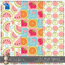 Fruit Patterns Layered Template by Peek a Boo Designs