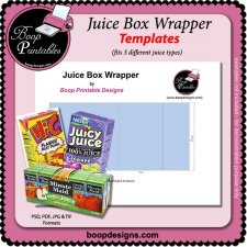 Juice Box Wrapper TEMPLATE by Boop Printable Designs