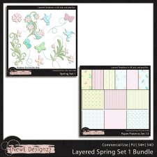 EXCLUSIVE Layered Spring Set 1 Templates Bundle by NewE Designz