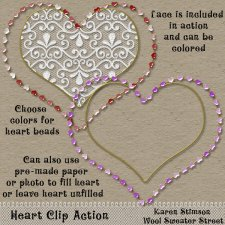 Heart Clip Action by Karen Stimson