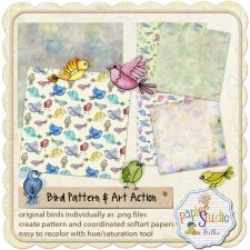 Action Soft Art 6 - Pattern and Art: Birds EXCLUSIVE by PapierStudio Silke