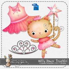 Kitty Dancer Layered Template by Peek a Boo Designs