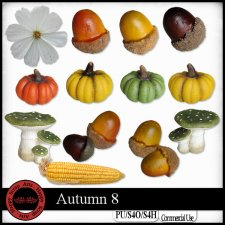 Autumn 8 elements by Happy Scrap Arts