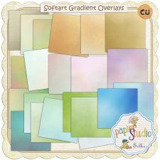 Soft Art Gradient Overlays EXCLUSIVE by PapierStudio Silke