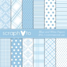 Blue and Whiten Papers by Scraphoto Studio
