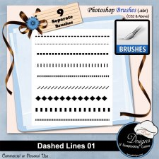 Dashed Lines abr Brushes 01 by Boop Designs