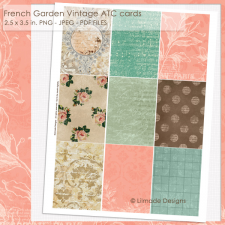 Vintage journaling ATC card backgrounds Lilmade Designs