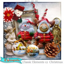 Classic elements 12 Christmas by Kastagnette