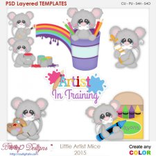 Little Artist Mice Layered Element Templates