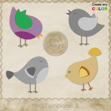 Bird Layered Templates 3 by Josy