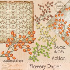 Action - Flowery Paper by Rose.li