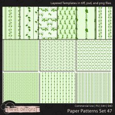 EXCLUSIVE Layered Paper Patterns Templates Set 47 by NewE Designz