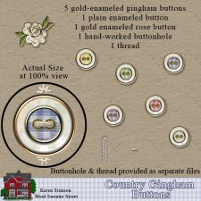 Country Gingham Buttons by Karen Stimson