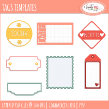 Tag templates label templates journaling templates Lilmade Designs