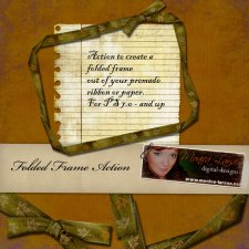 Folded Ribbon Frame by Monica Larsen