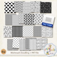 Mishmash Doodling and Pattern file by PapierStudio Silke