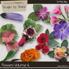 Flowers Vol 4 - EXCLUSIVE Designs by Ohana