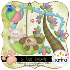 Best Friends Layered Template by Peek a Boo Designs